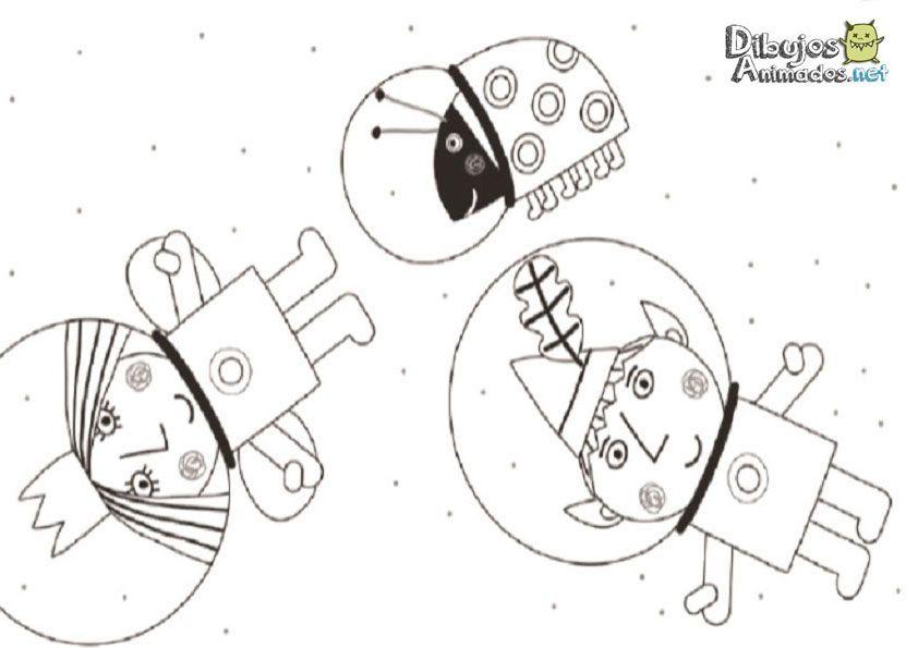 Dibujos para colorear del pequeño reino de Ben y Holly ...