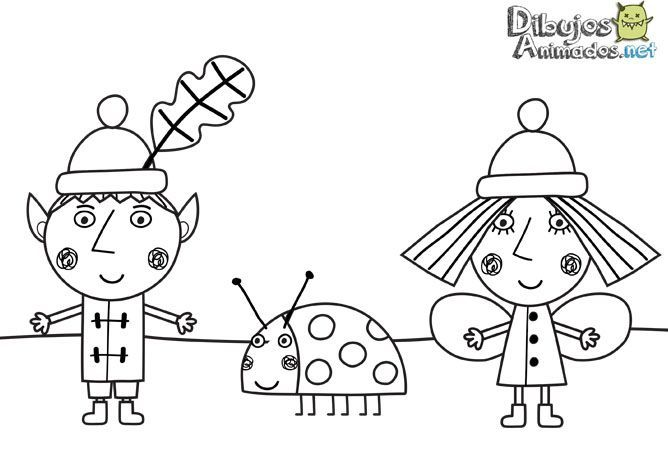 Dibujos para colorear del pequeño reino de Ben y Holly - Dibujos ...