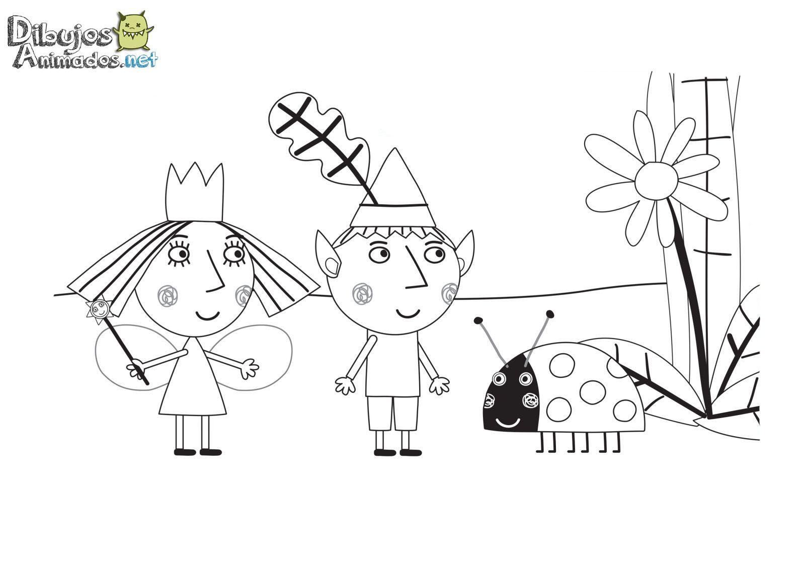 Dibujos para colorear del pequeño reino de Ben y Holly   Dibujos