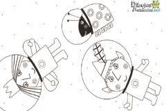ben-holly-para-colorear astronautas