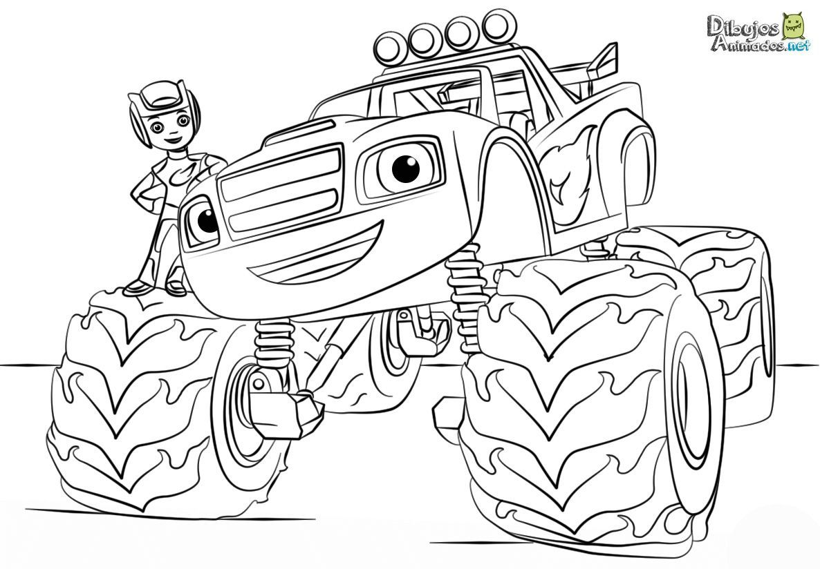 Dibujos para colorear de Blaze y los monster machines ...