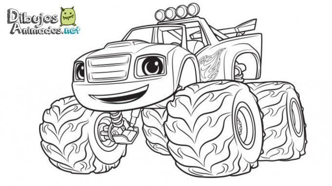 Dibujos para colorear de blaze y los monster machines for Cartoni blaze