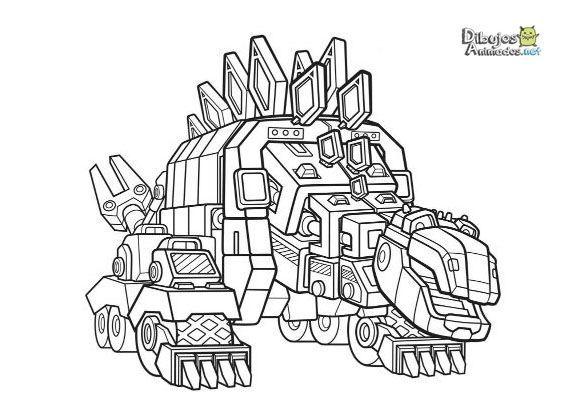 Imagenes Animadas Para Colorear: Dibujos Para Colorear Dinotrux