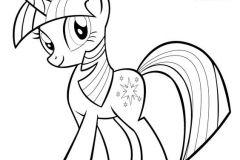 colorear poni morado
