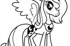 colorear unicornio