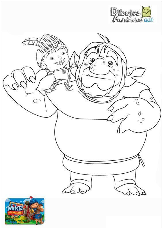 Plantillas para colorear de Mike el caballero - Dibujos Animados