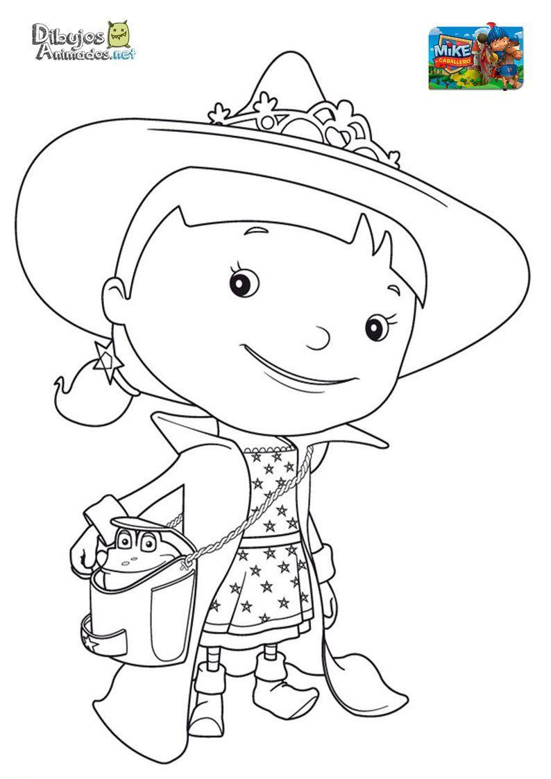 Plantillas Para Colorear De Mike El Caballero Dibujos Animados