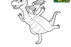Colorear Dragon Squirt_Mike el caballero