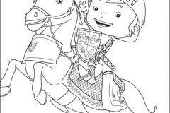 Colorear Mike y caballo
