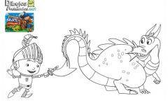 Colorear Mike y dragon