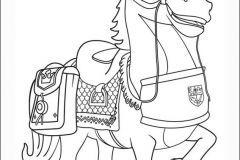 Colorear al caballo de Mike el caballero