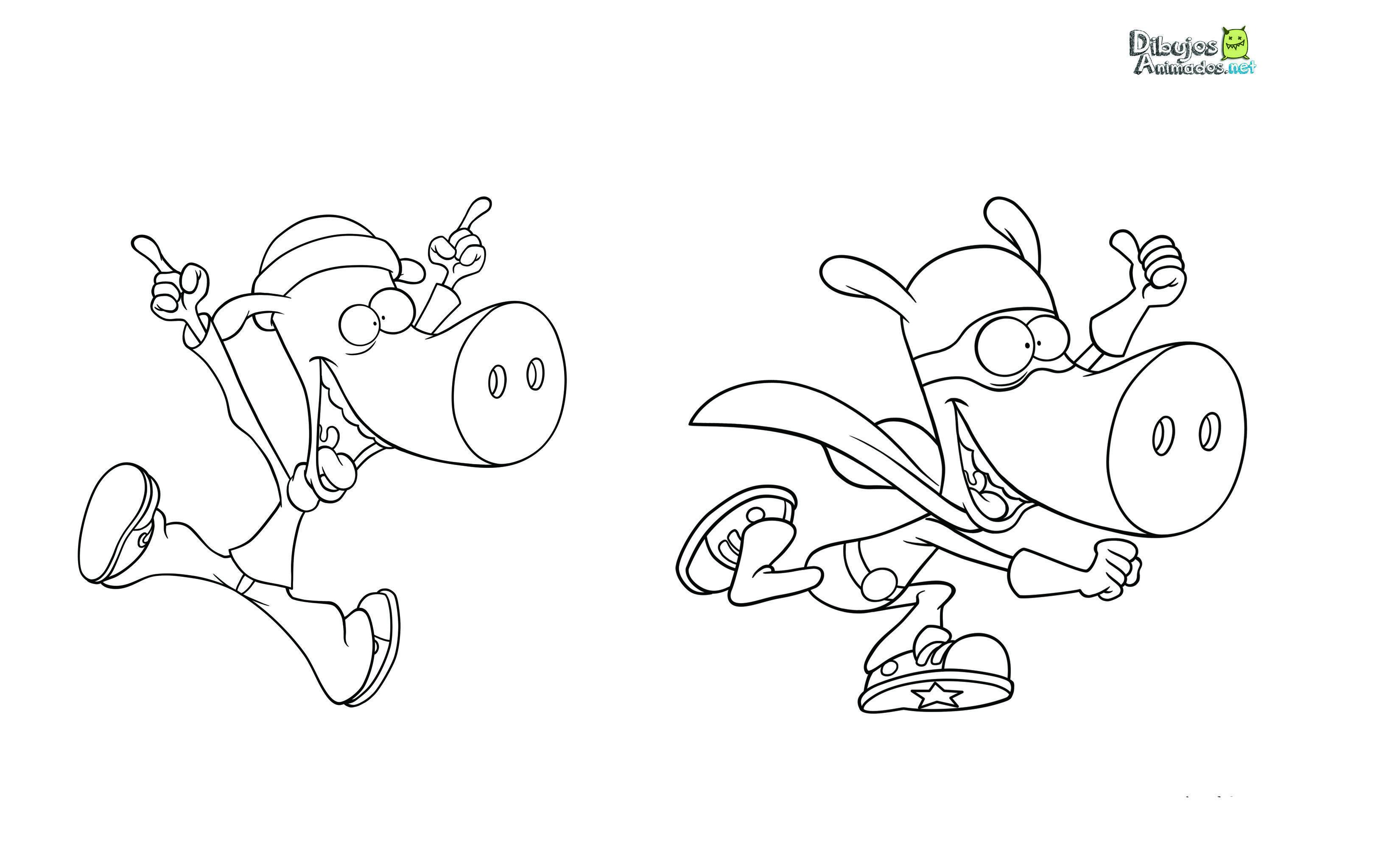 Plantillas para colorear de Los Superminiheroes - Dibujos Animados