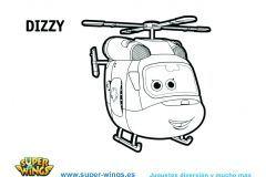 Colorear Dizzy Super Wngs