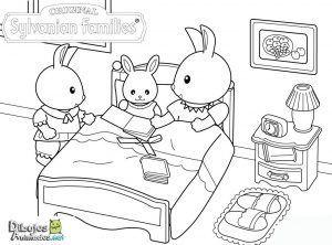 colorear-familia-conejo-sylvanian-families