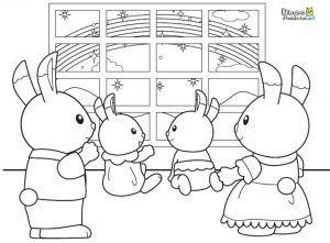 Dibujos Para Colorear Animales Sylvanian Families Dibujos Animados