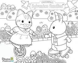 colorear-gatito-y-conejo
