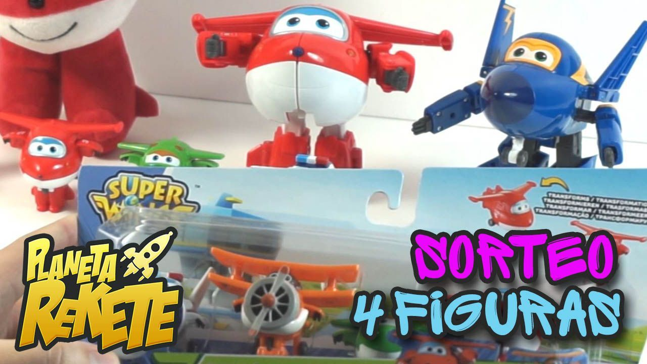 Sorteo Super Wings: Pack de 4 figuras: Jett, Mira, Paul y Gran Albert