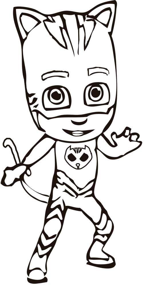 Dibujos para colorear PJ Masks - Heroes en pijamas - Dibujos Animados