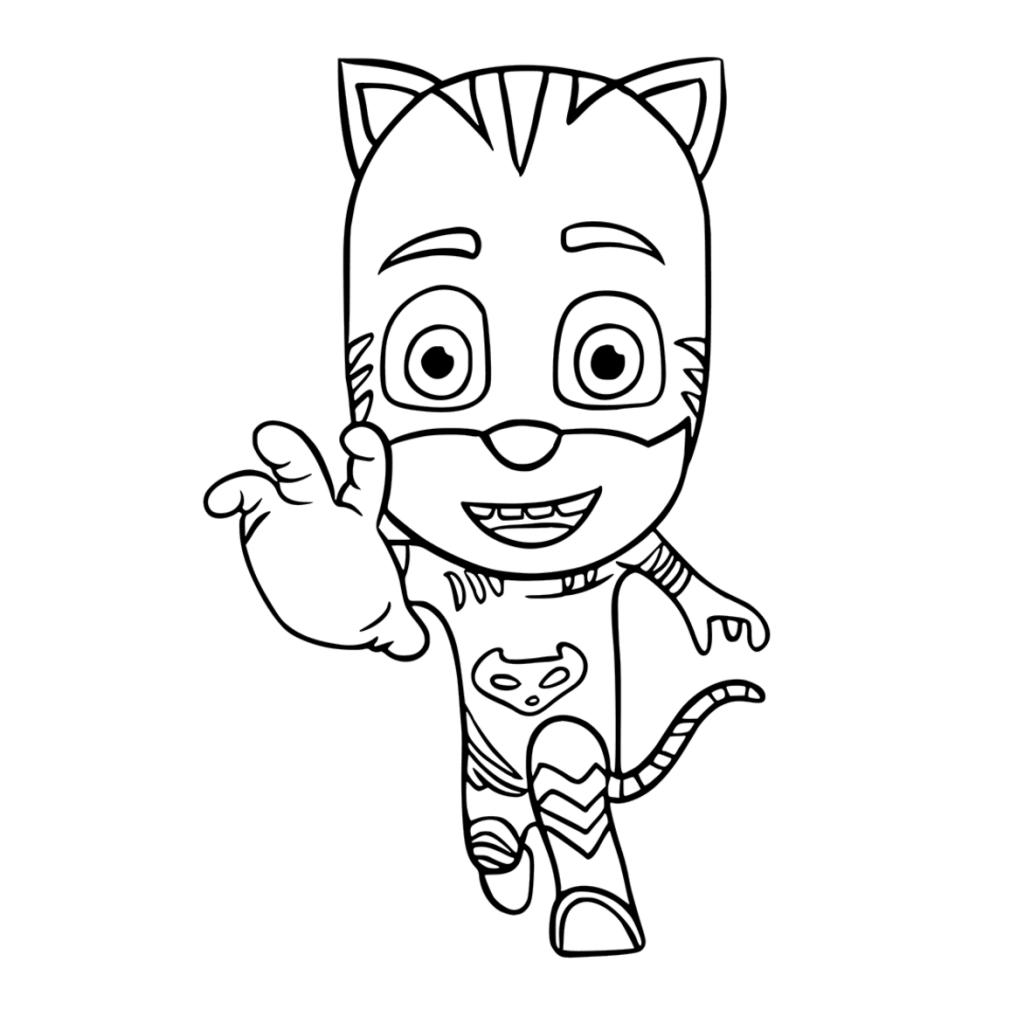 Dibujos Para Colorear Pj Masks Heroes En Pijamas Dibujos Animados