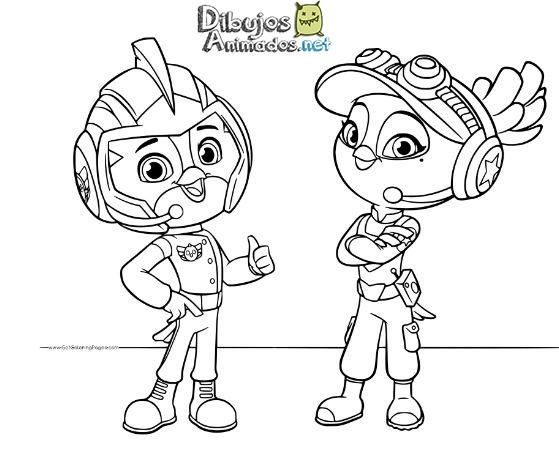 Dibujos Animados Para Colorear En El Ordenador: Dibujos Colorear Top Wing
