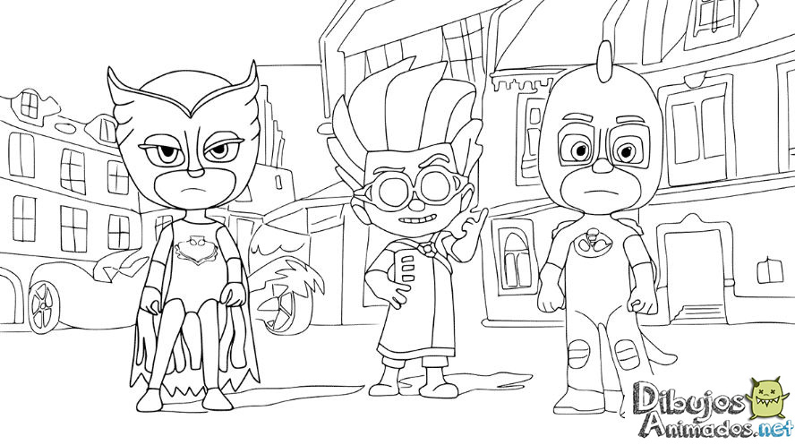 Dibujos Para Colorear Infantiles Dibujos Personajes: Dibujos Para Colorear PJ Masks