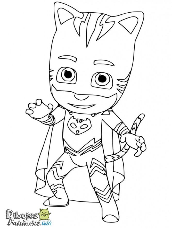 Dibujos para colorear PJ Masks - Heroes en pijamas ...