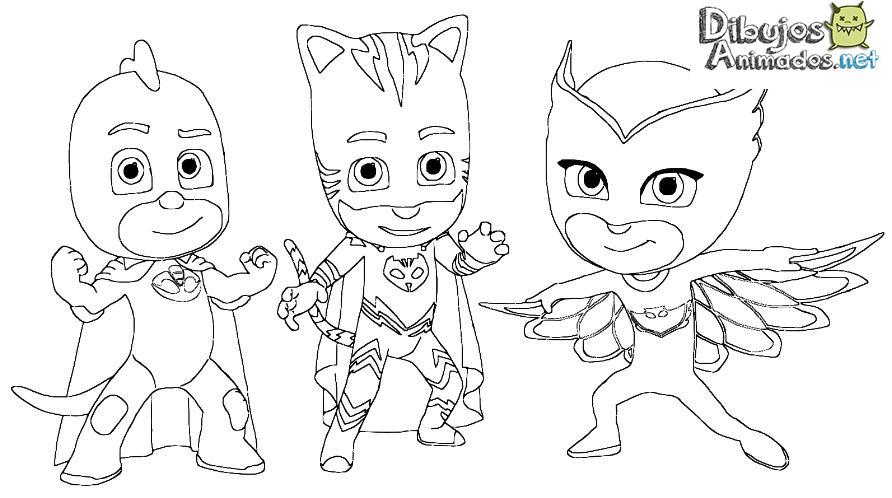 Dibujos Animados Para Colorear: Dibujos Para Colorear PJ Masks