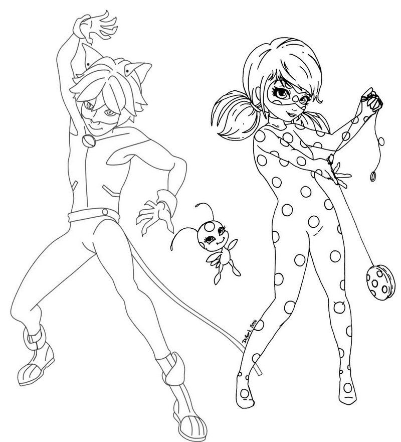 Ladybug Para Colorear Dibujos Animados 2019