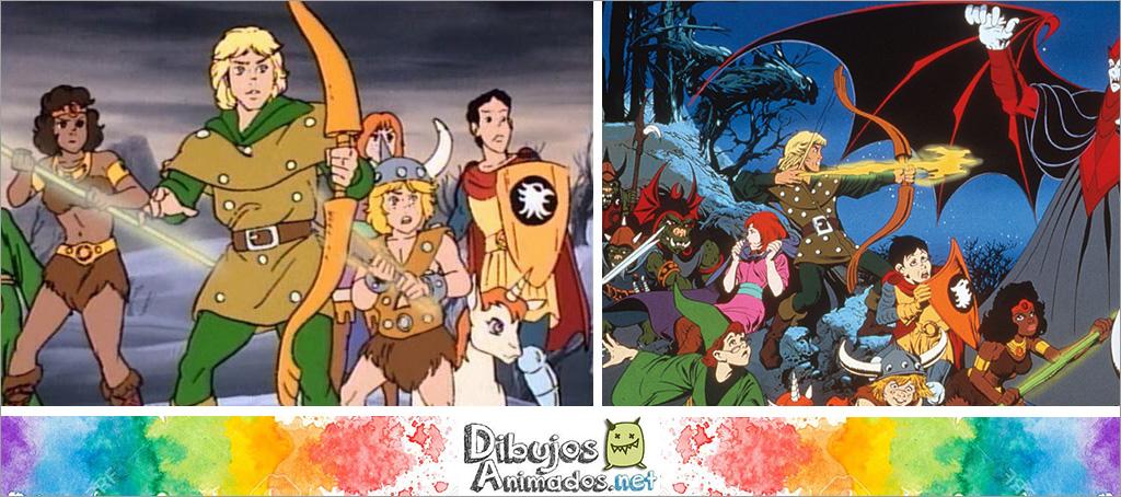 serie dibujos animados dragones y mazmorras