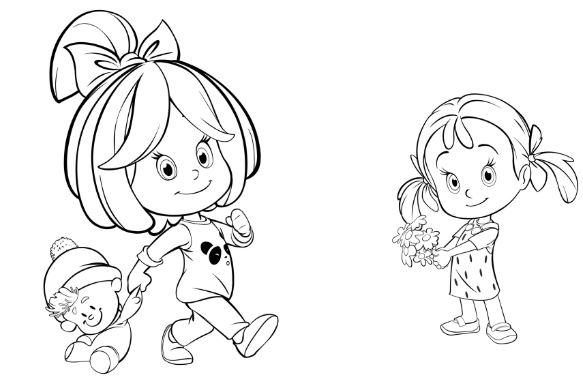 La Familia Telerin Para Colorear Dibujos Animados