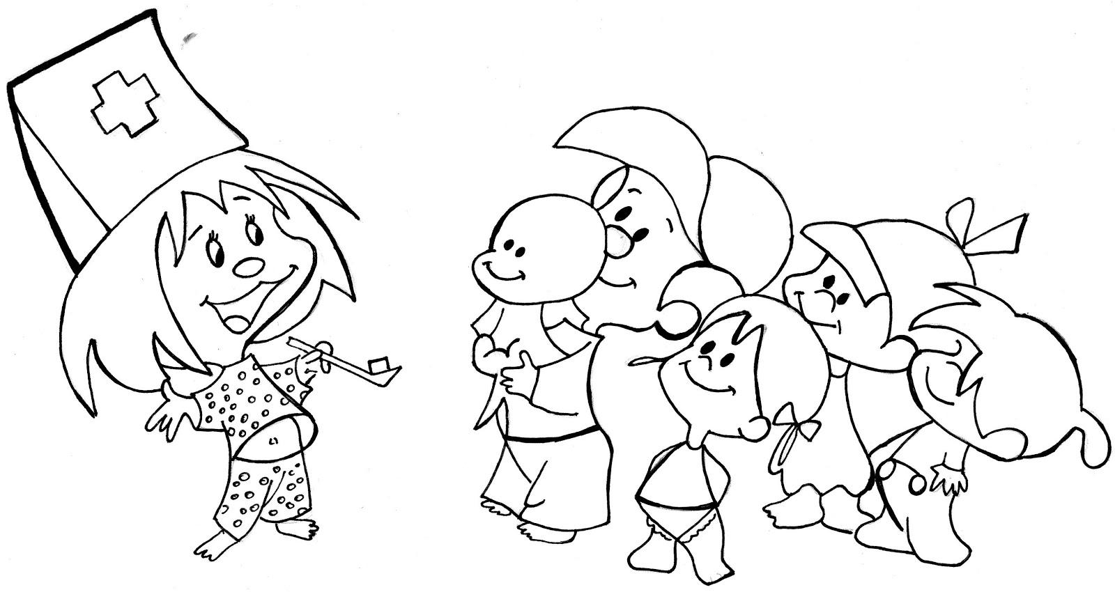 Familia Telerin Antiguo Color Dibujos Animados