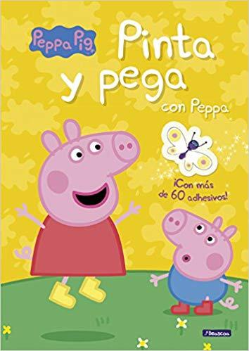 pinta y pega de peppa pig
