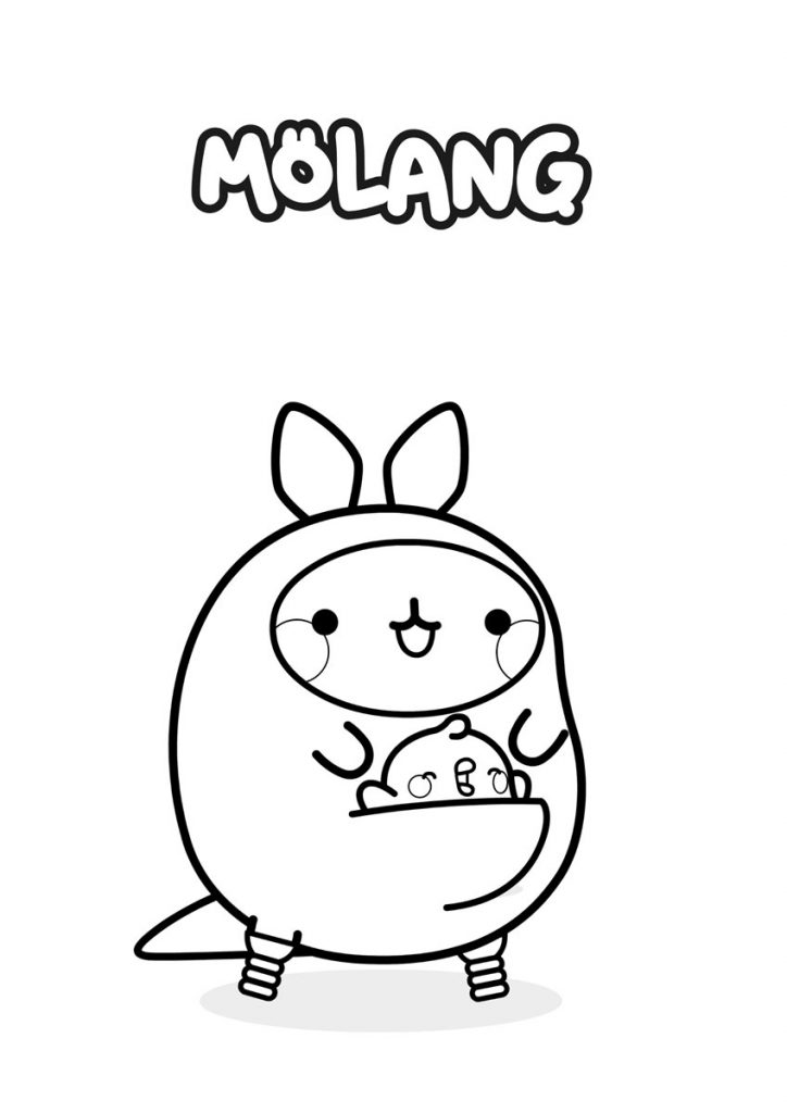 molang disfrazado de conejo